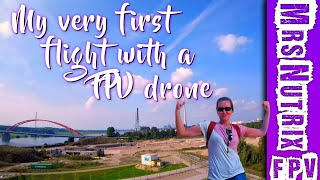My very first flight with a FPV drone (Day 1 | Angle Mode) ????⚕️