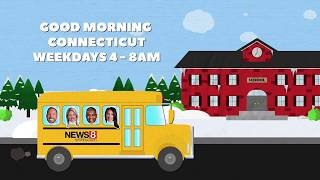 WTNH News 8 School Closings School Bus