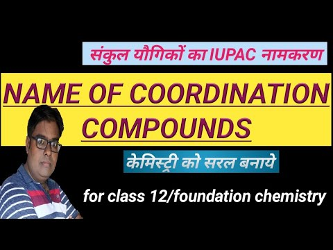 IUPAC name of coordination compounds/coordination compounds/ class 12/chapter 9/inorganic  chemistry