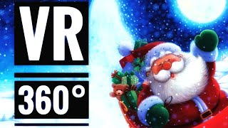 VR Santa The Ride 360 VR Roller Coaster Christmas for Kids and Family VR VIDEO 360 degree