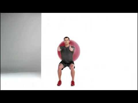 Swiss Ball Bodyweight Wall Squat