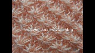 Узор Маргаритки( Звездочки, 5 из 5ти) Вязание спицами. Knitting(Hobby).