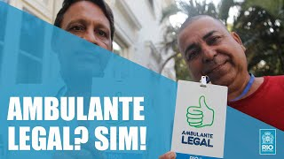 Ambulante Legal dá dignidade e tranquilidade ao vendedor de rua Régis