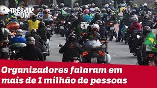 Motociata pró Bolsonaro em SP gera divergências sobre números