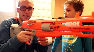 New Nerf Gun 2017 Unboxing & Review:  Accustrike Alphahawk