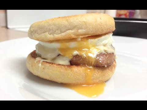 McDonalds SAUSAGE AND EGG McMUFFIN WITH CHEESE COPYCAT RECIPE - How To Make - Greg's Kitchen