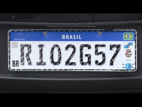 Placa modelo Mercosul já está em vigor desde o último dia 11 de setembro no estado do Rio