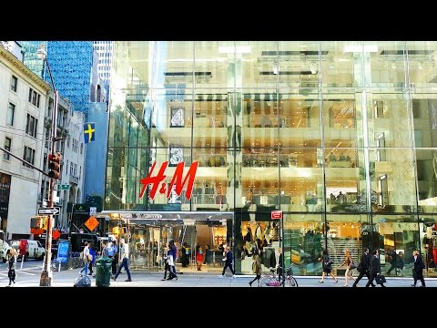 Video 5th Avenue Shops and Stores, Manhattan, New York City, 4K video