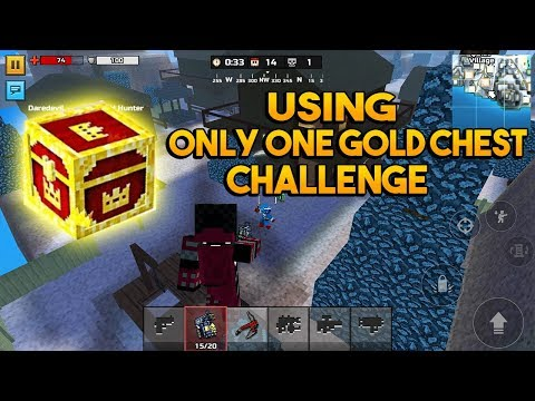Pixel Gun 3D - Using only one gold chest challenge in battle royale