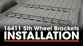 5th Wheel Hitch Install: CURT 16411 Custom Brackets on a Chevy Silverado