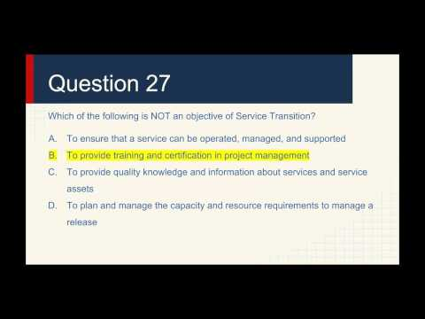 ITIL Foundation Practice Exam Questions - 3 - YouTube