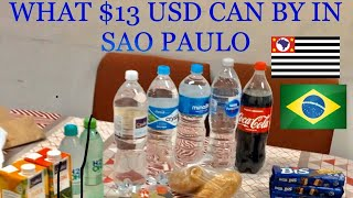 What $13 US Dollars Can Buy at Sao Paulo Supermarket - Brazil Currency Records
