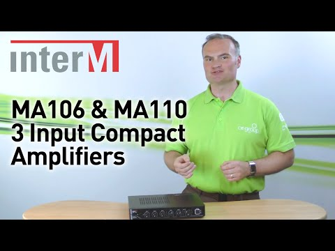 Inter-M MA106 & MA110 Professional 3 Channel Amplifiers (100v line & Low Z)