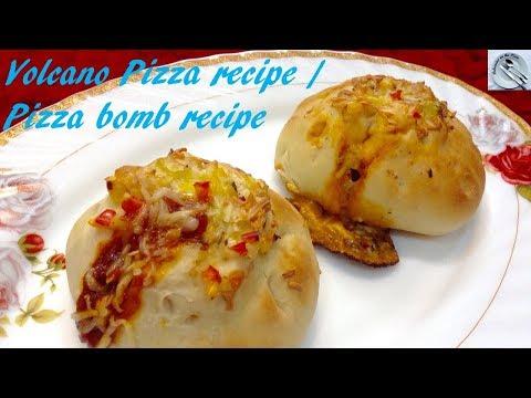 lava pizza recipe - volcano pizza recipe - innovative pizza recipe - DOTP - Ep(300)