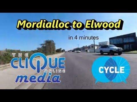 Mordialloc to Elwood in 4 minutes... Riding with St Kilda CC in a super fast hyper-lapse