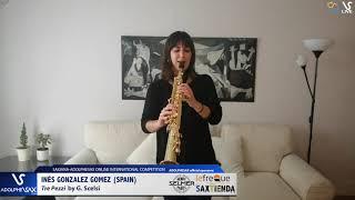 Inés GONZALEZ GOMEZ plays Tre Pezzo by G. Scelsi #adolphesax