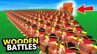 SECRET INFINITE UNIT SPAWNER IN WOODEN BATTLES (Wooden Battles Funny Gameplay)
