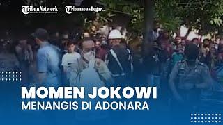 Momen Presiden Jokowi Menangis di Adonara, Ajudan Sigap Ambil Tisu dari Dalam Tas
