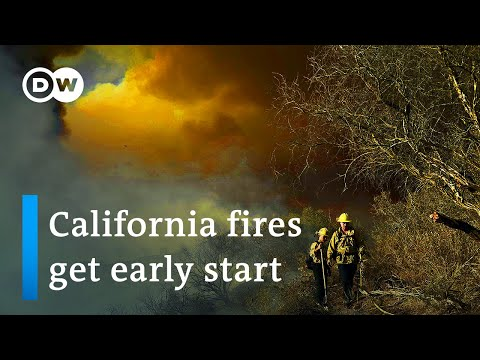 Californians brace for fire season as crews battle blaze near LA | DW News