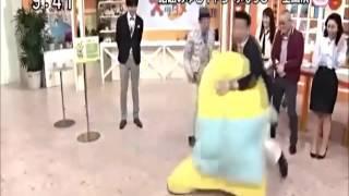 ふなっしーVS加藤浩次スッキリで相撲対決