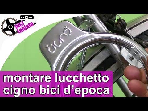 Come montare il lucchetto Cigno sulla bicicletta