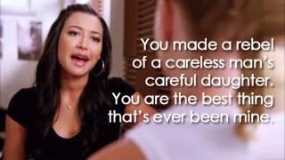 "Video thumbnail of ""Glee - Mine (Lyrics)"""