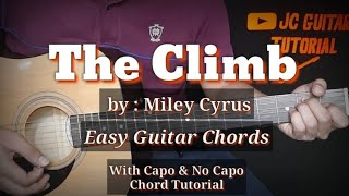 The Climb - Miley Cyrus Guitar Chords (No Capo & with Capo Chords Tutorial)