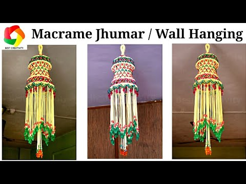 Simple Macrame Jhumar | Macrame Wall Hanging | Wall Hanging DIY | New Design