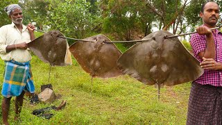 PAKORA !!! STINGRAY FISH PAKODA | 3 Stingray Fish Prepared by my uncle food fun village