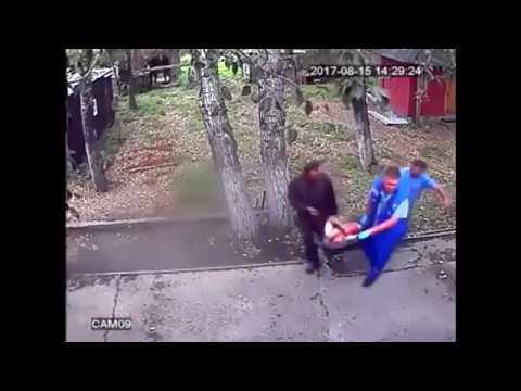 Медведь откусил руку пьяному в Иркутске (Впечатлительным не смотреть)