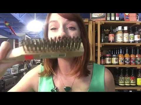 Woman's tongue punctured by bristle from metal grill brush: Digital Short
