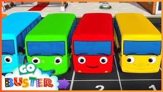 10 Little Buses | Little Baby Bus | Nursery Rhymes | Songs for Kids