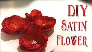 DIY Satin Flower | Satin Flowers Tutorial | Handmade Satin Fabric Petals & Flower