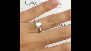 1.5 Carat Cushion Cut Diamond Engagement Ring