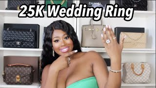 MY NEW 25K WEDDING RING SET!!???