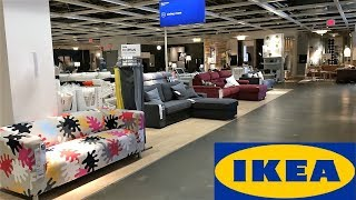 IKEA SOFAS COUCHES LIVING ROOM FURNITURE HOME DECOR SHOP WITH ME SHOPPING STORE WALK THROUGH 4K
