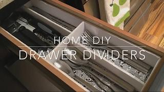 HOME DIY  Dollar Tree DRAWER DIVIDER UNDER $10