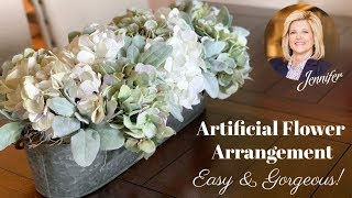 How To Make An Artificial Flower Arrangement