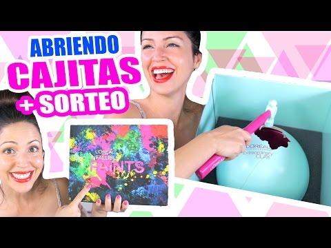Abriendo Cajitas de L'Oreal con SORTEO INTERNACIONAL! Sandra Cires Art