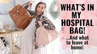 What to pack in a hospital bag! + what NOT to bring! A REAL look inside my bag!