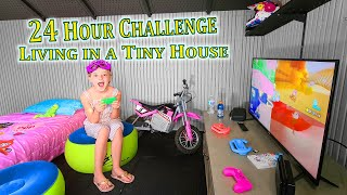 Living in a Tiny House for 24 Hours!!!