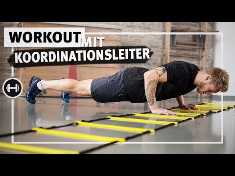 Workout mit Koordinationsleiter