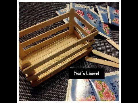 Tutorial: Crea scatola con stecche di legno/DIY/Riciclo creativo