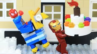 Lego Superhero Ironman and Spiderman Play Pinata