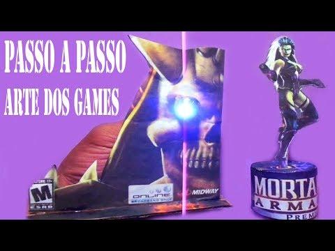 Como fazer Miniaturas de Papel  com Capa de Jogo do PS2 Mortal Kombat