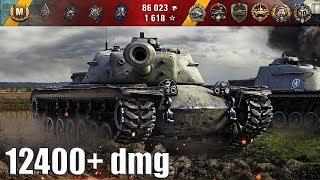 T110E4 ОЧЕНЬ МОЩНАЯ ПТ 12400+ dmg рекорд по урону 🌟🌟🌟 World of Tanks лучший бой Т110Е4