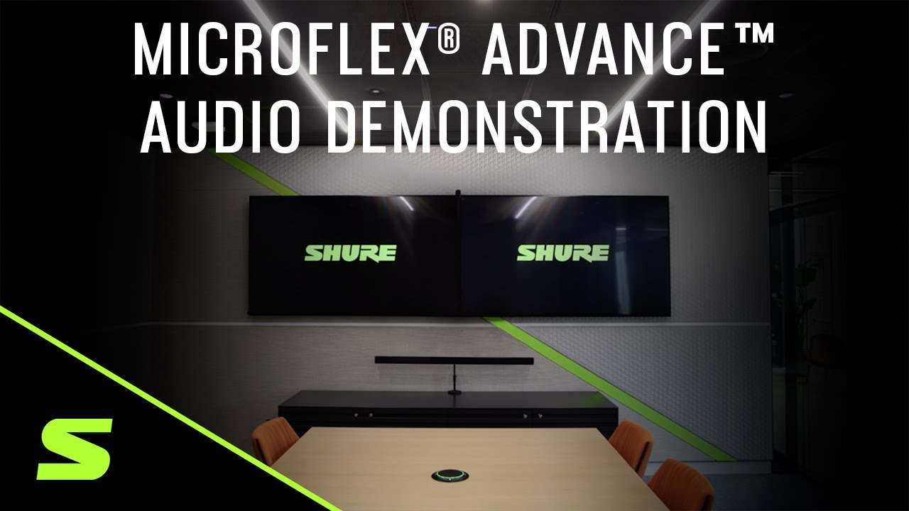 Shure Microflex® Advance™ Array Microphones - Audio Demonstration