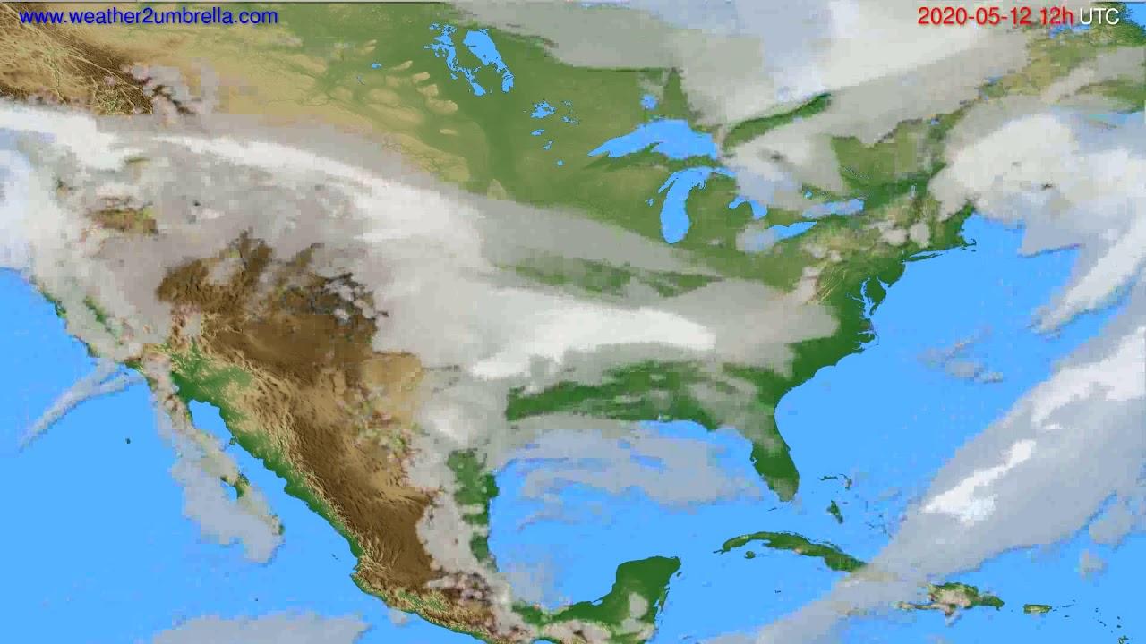 Cloud forecast USA & Canada // modelrun: 00h UTC 2020-05-12