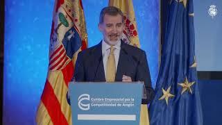 Palabras de S.M. el Rey en la clausura de la V Cumbre Empresarial para la Competitividad de Aragón