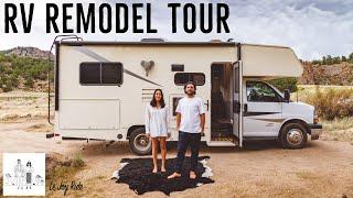 RV Remodel Tour   Full Time RV Life   Modern Versatile Custom Design Ideas    24 Foot Home on Wheels